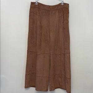 Nanette Lepore suede-like wide leg trouser